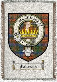 Bairnson Clan Badge Throw Blanket