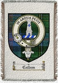 Callam Clan Malcolm Clan Badge Throw Blanket