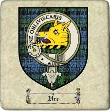 Ure Clan Badge Marble Tile