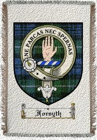 Forsyth Clan Lamont Clan Badge Throw Blanket