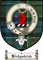 Kirkpatrick Clan Douglas Clan Badge / Tartan FREE preview