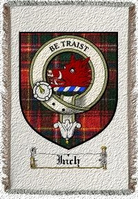 Inch Clan Badge Throw Blanket