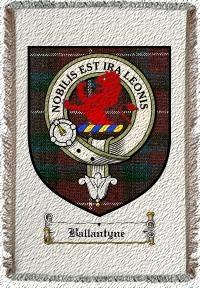 Ballantyne Clan Stuart Clan Badge Throw Blanket