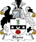 Blane Family Crest / Blane Coat of Arms JPG Download