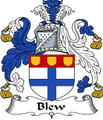 Blew Family Crest / Blew Coat of Arms JPG Download