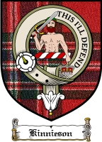 Kinnieson Clan Badge / Tartan FREE preview