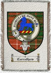 Carruthers Clan Badge Throw Blanket