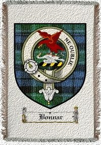 Bonnar Clan Badge Throw Blanket