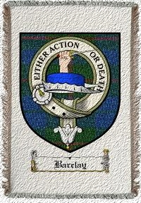 Barclay Clan Badge Throw Blanket