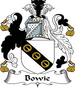 Bowie Family Crest / Bowie Coat of Arms JPG Download