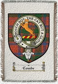Combe Clan Badge Throw Blanket