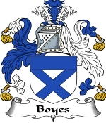 Boyes Family Crest / Boyes Coat of Arms JPG Download