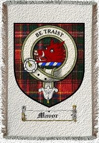 Mavor Clan Innes Clan Badge Throw Blanket