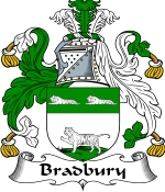 Bradbury Family Crest / Bradbury Coat of Arms JPG Download
