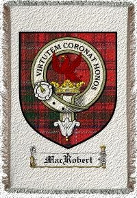 Macrobert Clan Badge Throw Blanket