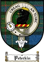 Peterkin Clan Badge / Tartan FREE preview