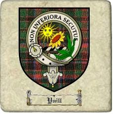 Yuill Clan Badge Marble Tile