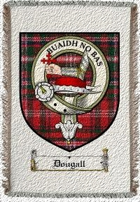 Dougall Clan Badge Throw Blanket