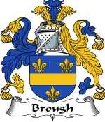 Brough Family Crest / Brough Coat of Arms JPG Download