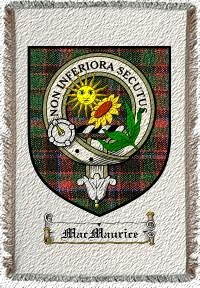 Macmaurice Clan Badge Throw Blanket