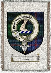 Crosier Clan Badge Throw Blanket