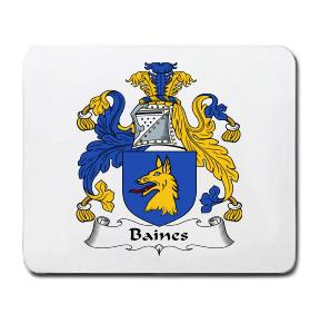 Baines Coat of Arms Mouse Pad