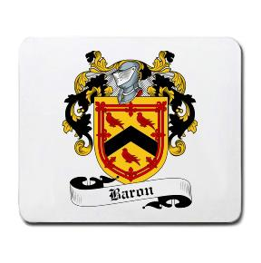 Baron Coat of Arms Mouse Pad