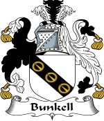 Bunkell Family Crest / Bunkell Coat of Arms JPG Download