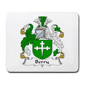 Berry Coat of Arms Mouse Pad