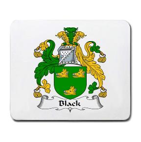 Black Coat of Arms Mouse Pad