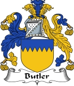 Butler Family Crest / Butler Coat of Arms JPG Download