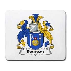 Bourdon Coat of Arms Mouse Pad