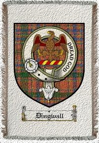Dingwall Clan Badge Throw Blanket