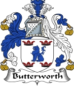 Butterworth Family Crest / Butterworth Coat of Arms JPG Download