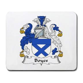 Boyes Coat of Arms Mouse Pad