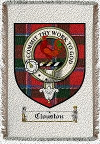 Clouston Clan Badge Throw Blanket