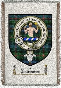Balneaves Clan Badge Throw Blanket