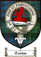 Coates Clan Badge / Tartan FREE preview