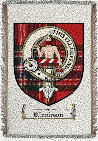 Kinnieson Clan Badge Throw Blanket