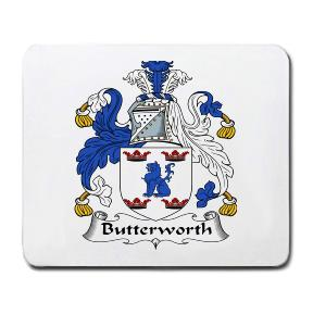 Butterworth Coat of Arms Mouse Pad