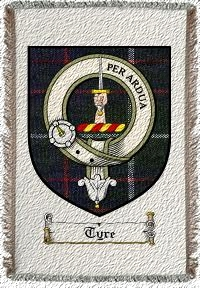 Tyre Clan Badge Throw Blanket