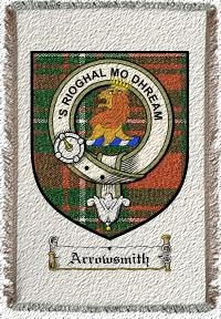 Arrowsmith Clan Badge Throw Blanket