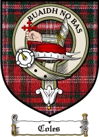 Coles Clan Badge / Tartan FREE preview