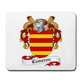 Cameron Coat of Arms Mouse Pad