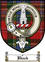 Black Clan Badge / Tartan FREE preview