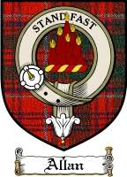 Allan Clan Macdonald Clanranald Clan Badge / Tartan FREE preview