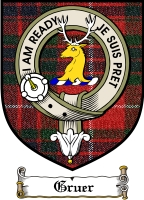 Gruer Clan Macgregor Clan Badge / Tartan FREE preview
