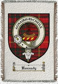 Kennedy Clan Badge Throw Blanket