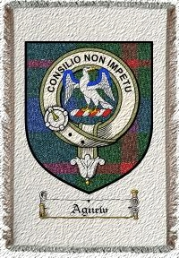 Agnew Clan Badge Throw Blanket