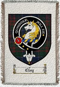 Clay Clan Badge Throw Blanket